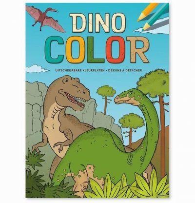 Dino Color kleurblok Dino kleurboek