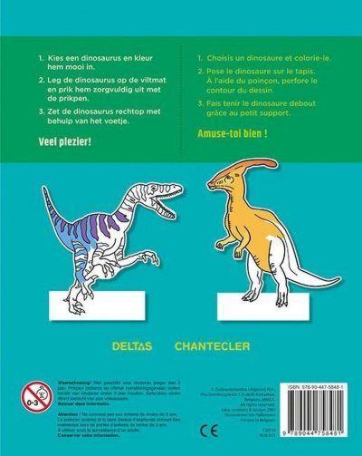 Dino Prikblok – incl. viltmat & prikpen Dino kleurboek
