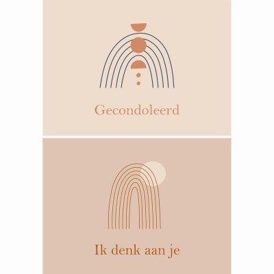 Fabrique a la Carte Wenskaarten Set – Condoleance – 10 Stuks – Met Envelop Wenskaarten