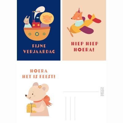 Fabrique a la Carte Wenskaarten set – Dieren – 15 stuks Wenskaarten