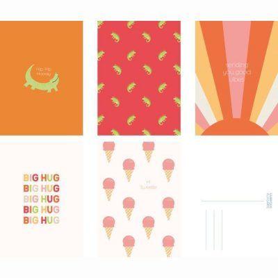 Fabrique a la Carte Wenskaarten set – Happy – 15 stuks Wenskaarten