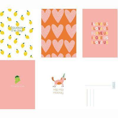 Fabrique a la Carte Wenskaarten set – Love – 15 stuks Wenskaarten