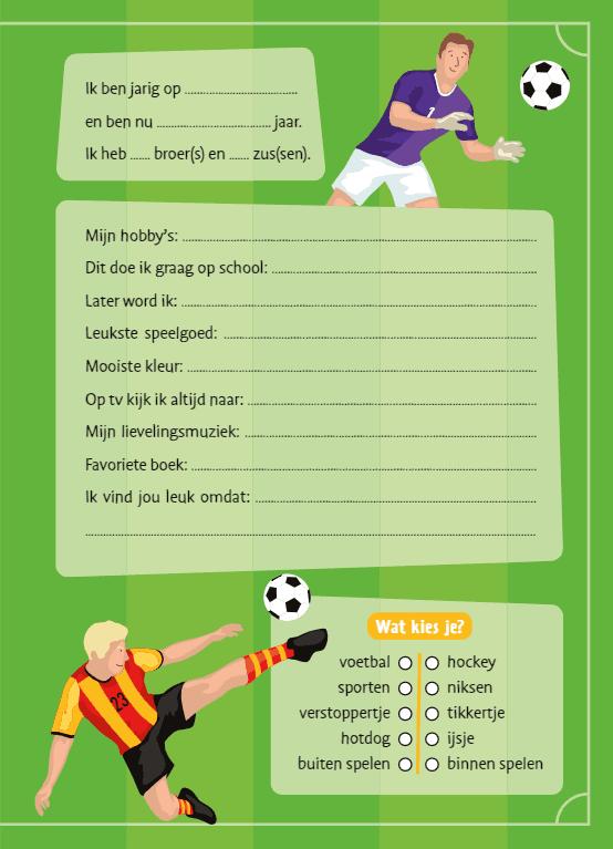 Gek op voetbal vriendenboekje Vriendenboekje