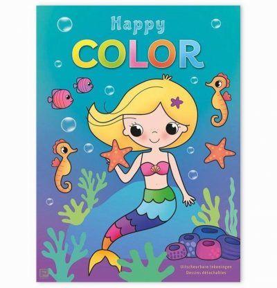 Happy Color Zeemeermin kleurblok Kleurboeken voor kinderen