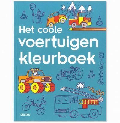 Het coole voertuigen kleurboek Kleurboeken voor jongens