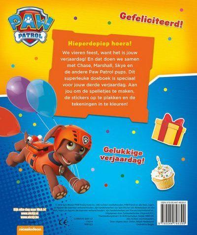 Hoera, 3 Jaar! Paw Patrol Verjaardagsboek Cadeauboeken voor kinderen