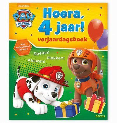Hoera, 4 Jaar! Paw Patrol Verjaardagsboek Cadeauboeken voor kinderen
