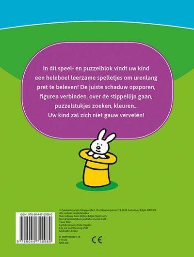 Leerrijk spelletjesblok 3-4 jaar Cadeauboeken voor kinderen