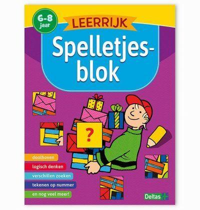 Leerrijk spelletjesblok 6-8 jaar Cadeauboeken voor kinderen