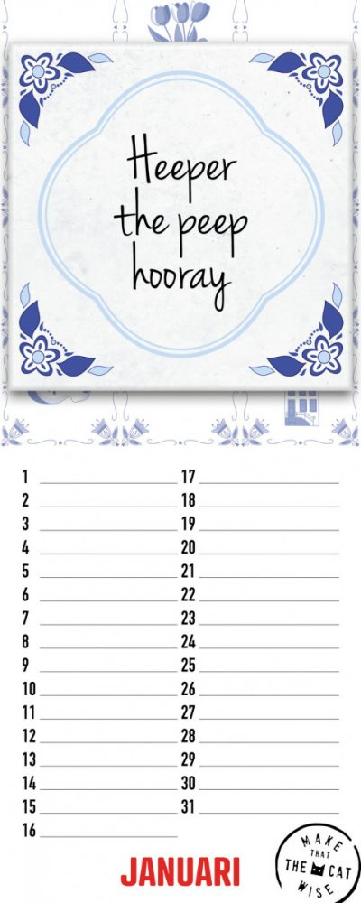 Make That The Cat Wise Verjaardagskalender Speakwords Grappige kalender