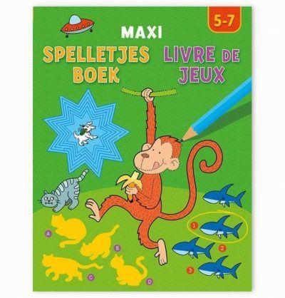 Maxi spelletjesboek 5-7 jaar Cadeauboeken voor kinderen