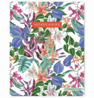 Menuplanner Tropical Flowers – A5 Boodschappen planner