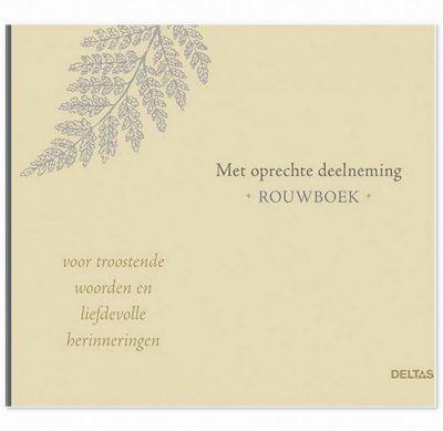 Met oprechte deelneming – rouwboek Afscheidsboek
