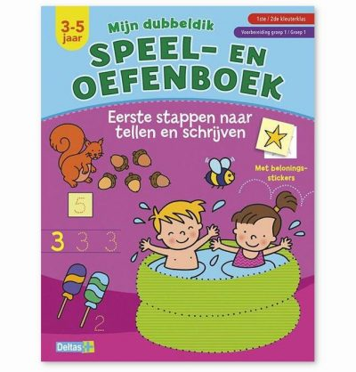 Mijn dubbeldik speel- en oefenboek 3-5 jaar – Tellen en schrijven Cadeauboeken voor kinderen
