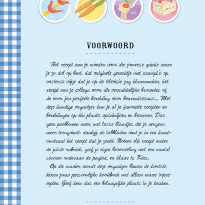Mijn receptenboek Recepten invulboek