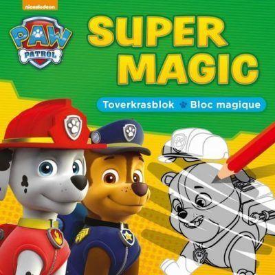 Paw Patrol Super Magic Toverkrasblok Kleurboeken voor jongens