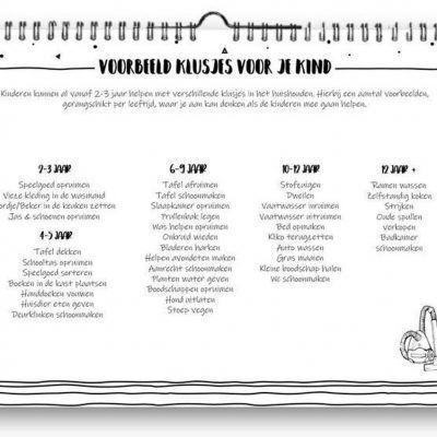SilliBeads Klusjes familie weekplanner – A4 Familie weekplanner