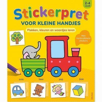 Stickerpret voor kleine handjes 2-4 jaar Kinderstickers