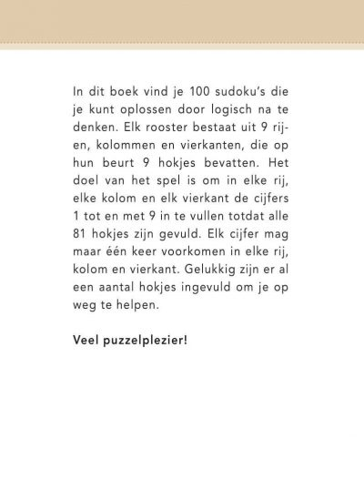 Sudoku Puzzelboek – Bruin Sudoku boek