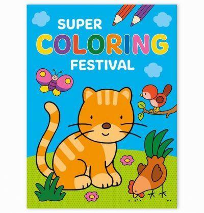 Super Coloring Festival kleurboek Kleurboeken voor kinderen