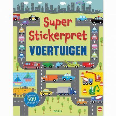 Super Stickerpret – Voertuigen Kinderstickers