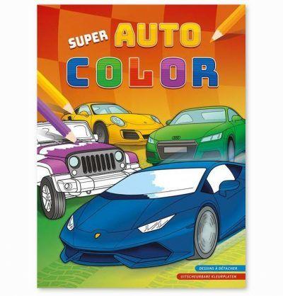 Super auto color kleurblok Kleurboeken voor jongens