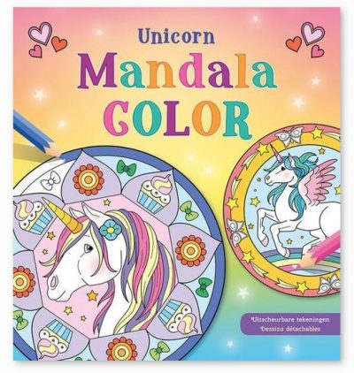 Unicorn Mandala Color kleurboek Eenhoorn boek