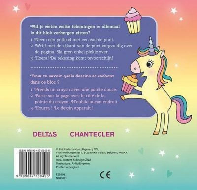 Unicorn Super Magic Toverkrasblok Eenhoorn boek