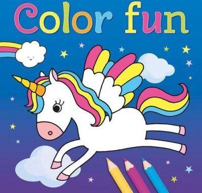 Unicorns Color Fun kleurboek Eenhoorn boek
