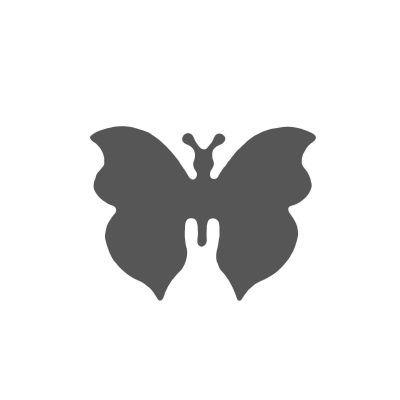 Vaessen Creative Figuurpons vlinder 4 medium Figuurponsen