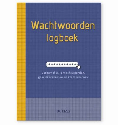 Wachtwoorden logboek Wachtwoorden boekje