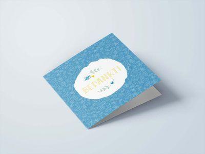Maan Amsterdam Wenskaarten set – Bedankt/succes/geluk – 6 stuks – Inclusief enveloppen Bedankkaarten