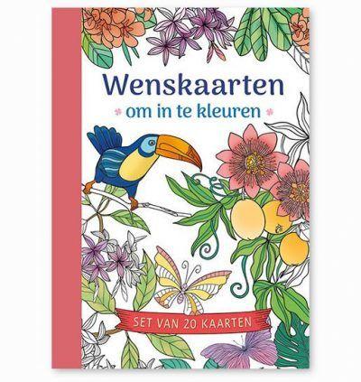 Wenskaarten om in te kleuren Kleurboeken