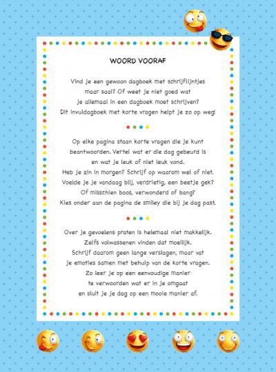 Zo voelde ik mij vandaag – Emotiedagboek voor kinderen Dagboek voor jongens