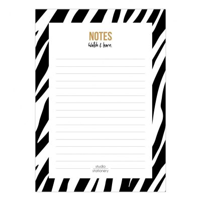 Studio Stationery Notitieblok Watch & learn – A6 Memoblok
