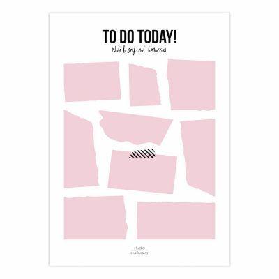 Studio Stationery Notitieblok To do today – Roze Dagplanner