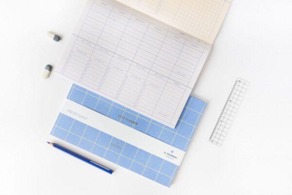 A-Journal Deskplanner – Weekplanner – Lavendel blauw Deskplanners