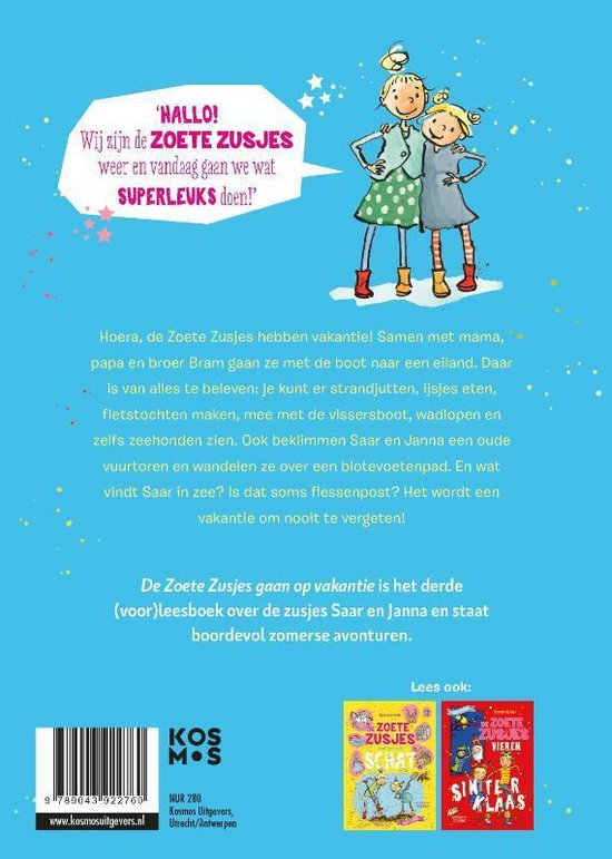 De zoete zusjes gaan op vakantie – Hanneke de Zoete Bestseller boeken