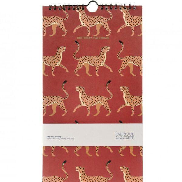 Fabrique a la Carte Verjaardagskalender – Luipaard Dieren kalenders