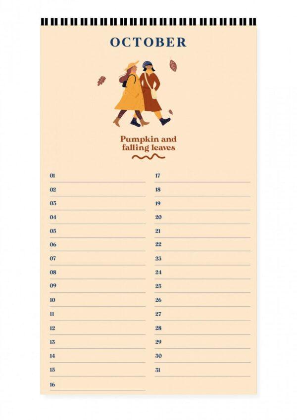 Fabrique a la Carte Verjaardagskalender – Peach Jaarkalender