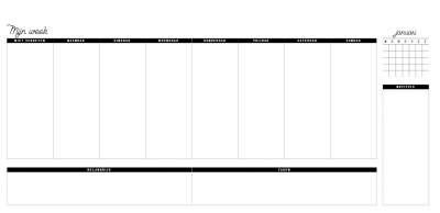 Flowers & Birds Bureauplanner – Wire-O Deskplanners