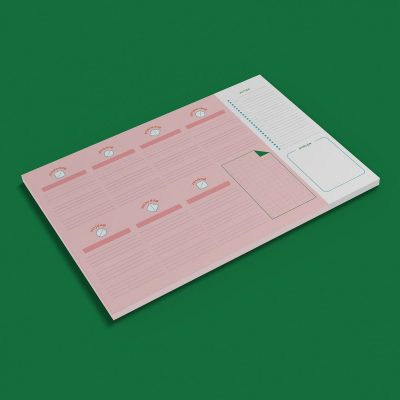 Get Your Flow Weekplanner pink – A4 Notitieblokken