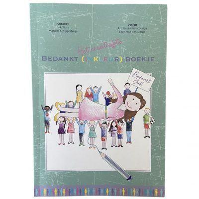 Inkollors Afscheidsboekje bedankt juf Afscheidsboekje voor de juf