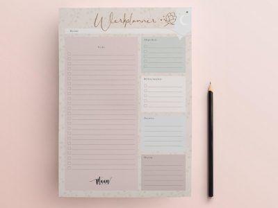 Maan Amsterdam Werkplanner – To do notitieblok – A4 Dagplanner