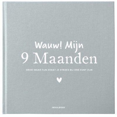 Pink Peach – Mijn 9 maanden dagboek – Linnen blauw 9 maanden dagboek