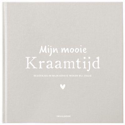 Pink Peach Mijn Kraamtijd invulboek – Linnen beige Kraambezoekboek