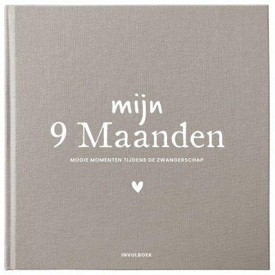 Pink Peach – Mijn 9 maanden dagboek – Linnen bruin 9 maanden dagboek
