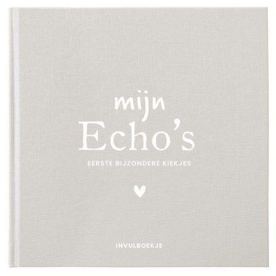 Pink Peach Mijn Echo's invulboekje – Linnen beige Echoboekje
