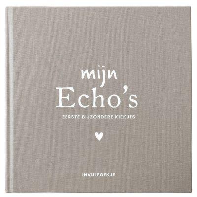 Pink Peach Mijn Echo's invulboekje – Linnen bruin Echoboekje