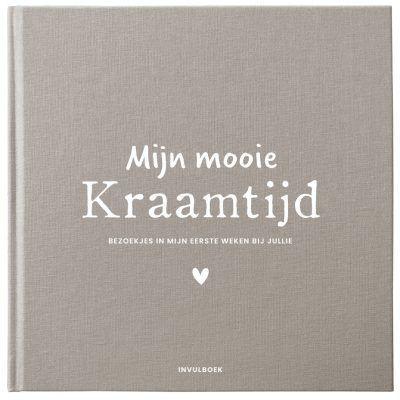 Pink Peach Mijn Kraamtijd invulboek – Linnen bruin Kraambezoekboek